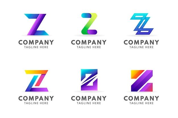 Vorlagen-z-buchstaben-logo-vorlagenpaket