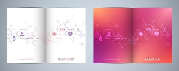 Vorlagenbroschüre oder cover-design