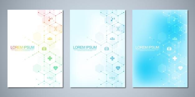 Vorlagenbroschüre oder deckblatt, seitenlayout, flyer-design