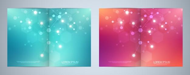 Vorlagenbroschüren oder cover-design