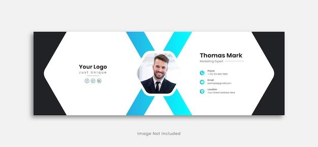Vorlagendesign für e-mail-signaturen