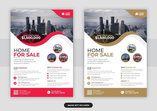 Vorlagendesign für immobilienflyer