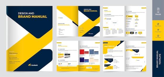 Vorlagendesign für markenhandbuch