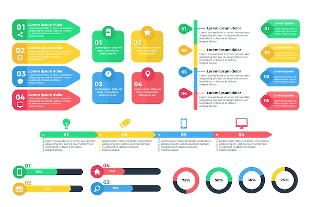 Vorlagenentwurf der infografikelementsammlung