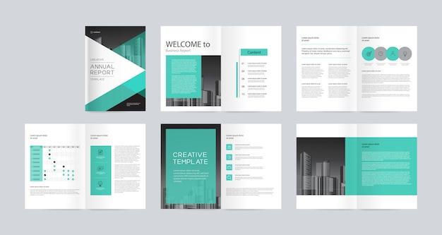 Vorlagenlayout-design mit deckblatt für firmenprofil, geschäftsbericht, broschüren, flyer, magazin, buch und a4-skala zur bearbeitung.