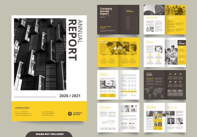 Vorlagenlayoutdesign mit deckblatt für firmenprofil und broschüren