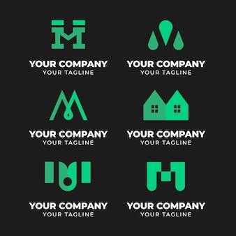 Vorlagenpaket mit m logos