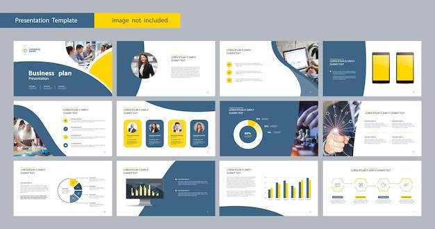 Vorlagenpräsentation und seitenlayout für broschüre