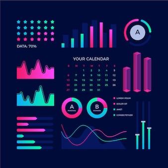Vorlagensammlung für dashboard-elemente