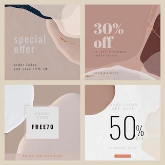 Vorlagensammlung für den modeverkauf