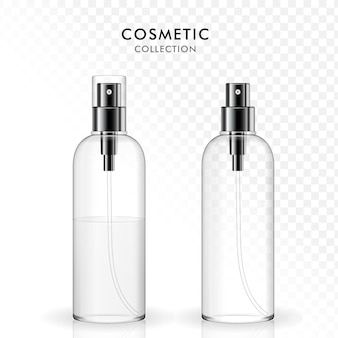 Vorlagenset für kosmetische sprühflaschen