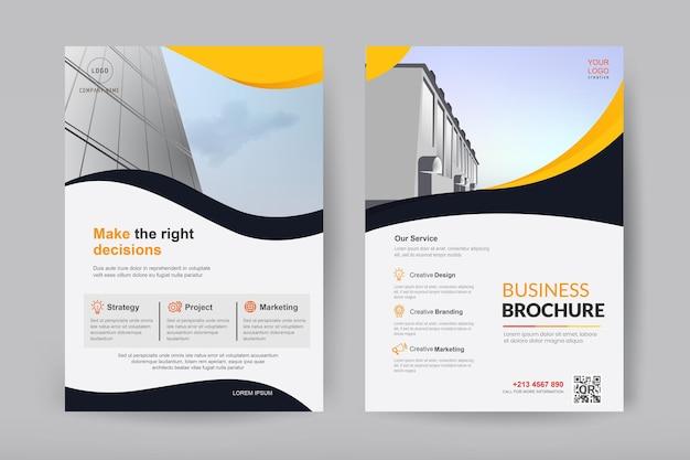 Vorlagenvektordesign für broschüre und flyer