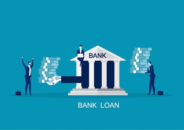 Vorschlag für bankinvestitionen, flaches konzept der refinanzierungsmöglichkeit