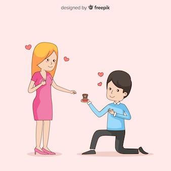 Vorschlags- und liebeskonzept