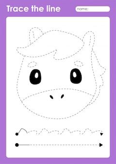 Vorschularbeitsblatt für kinder zum üben von linien zum üben von feinmotorik
