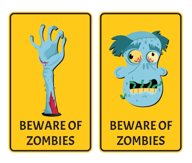 Vorsicht vor zombies mit monster-körperteilen