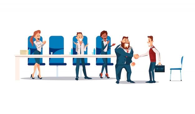 Vorstellungsgespräch und recruiting