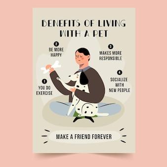 Vorteile des lebens mit einem haustierplakat
