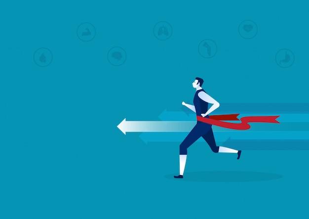 Vorteile von laufen oder joggen infografik.