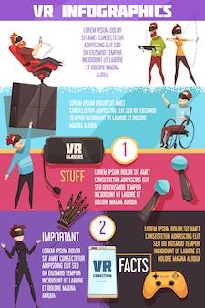 Vr-infografik der virtuellen realität