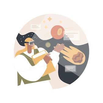 Vr und ar in der bildung illustration