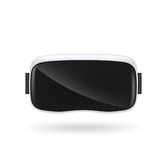 Vr virtual reality brille auf weißem hintergrund.