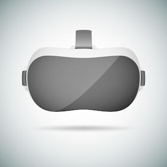 Vr-virtual-reality-headset. realistische kopfhörergläser der virtuellen realität