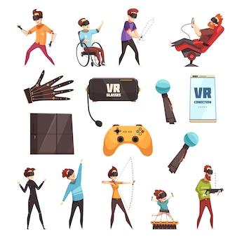 Vr-zubehörset für virtuelle realität