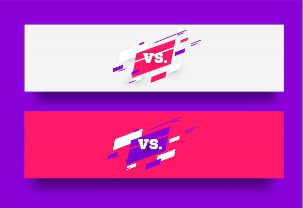 Vs. versus board of rivals, mit platz für text.