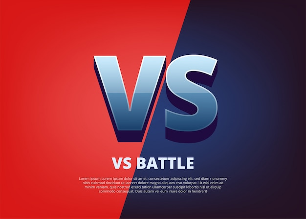 Vs versus comic-design. vs-logo mit platz für text