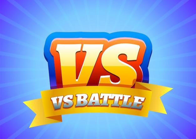 Vs versus comic-design. vs logo
