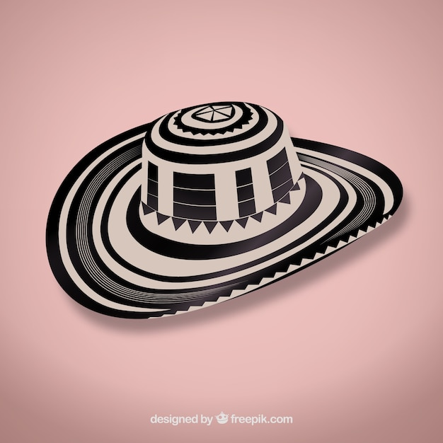 Vueltiao - sombrero vektor