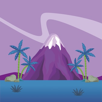 Vulcano in der natur