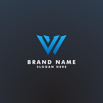 W brief logo design vorlage illustration
