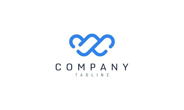 W runde logovorlage in kräftigem blau