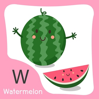 W wassermelonenfrucht süß