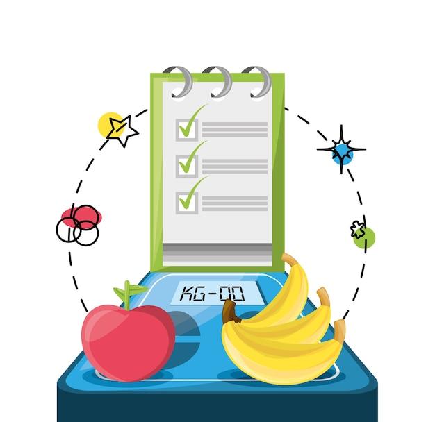 Waage mit früchten und tipps liste