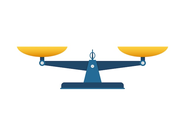 Waage-symbol. waage isoliert auf weißem hintergrund. vektorgrafik auf lager