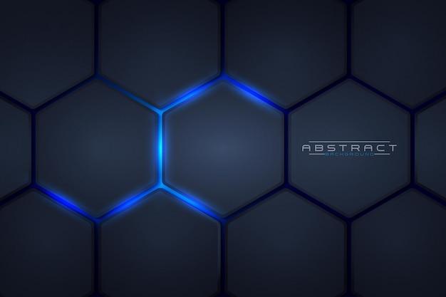 Waben hellblauer stil abstrakter hintergrund