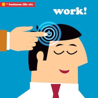 Wach auf und arbeite, büro wochentags