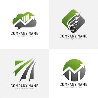 Wachsen sie mit pfeil-logo