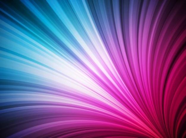 Wachsenden lichtwellen lila glänzenden hintergrund