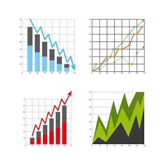 Wachstum wirtschaft statistik symbole