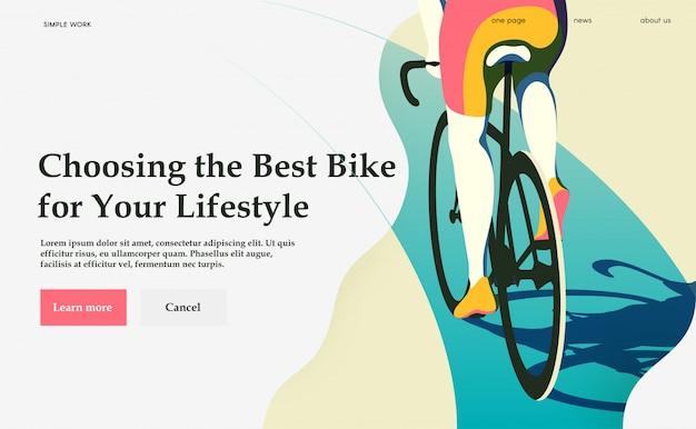 Wählen sie das beste fahrrad für ihren lebensstil. radfahren.