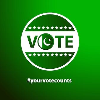 Wählen sie für pakistan