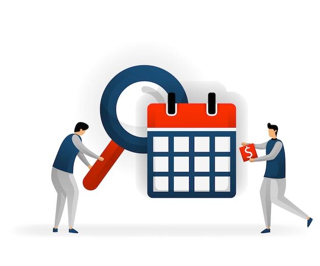 Wählen sie keywords und seo basierend auf datum und zeitplan aus