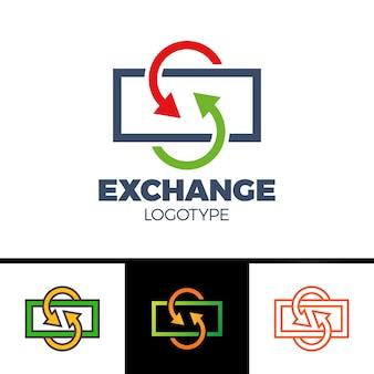 Währungsumtauschlinie ikone, gefülltes entwurfsvektorzeichen, lineares buntes piktogramm lokalisiert auf weiß. logo-abbildung mit dem buchstaben s