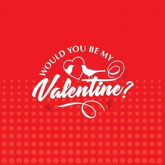 Wären sie mein valentinsgruß mit rotem herzmuster