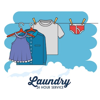 Wäsche kleidung symbol