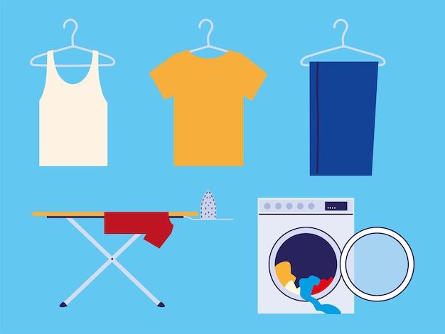 Wäsche waschen und bügeln